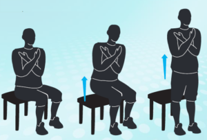 Sitting to standing position