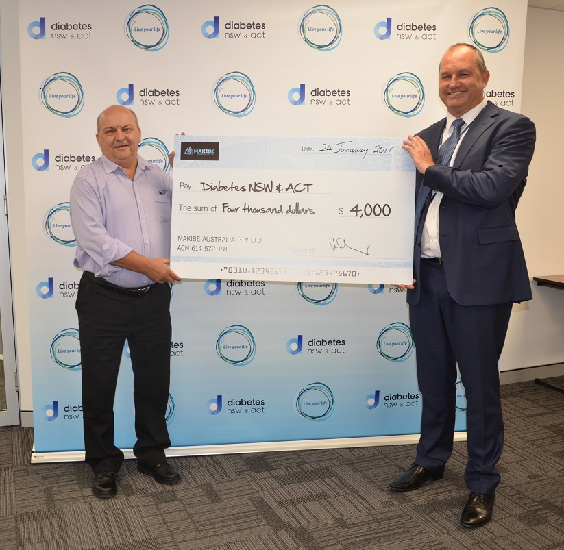 Harry and Makibe raise $4000 to help people with diabetes