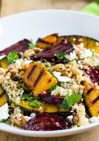 roasted pumpkin, quinoa, rocket, fetta and pumpkin seed salad
