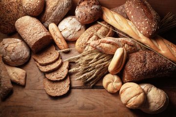 An assortment of bread and grains